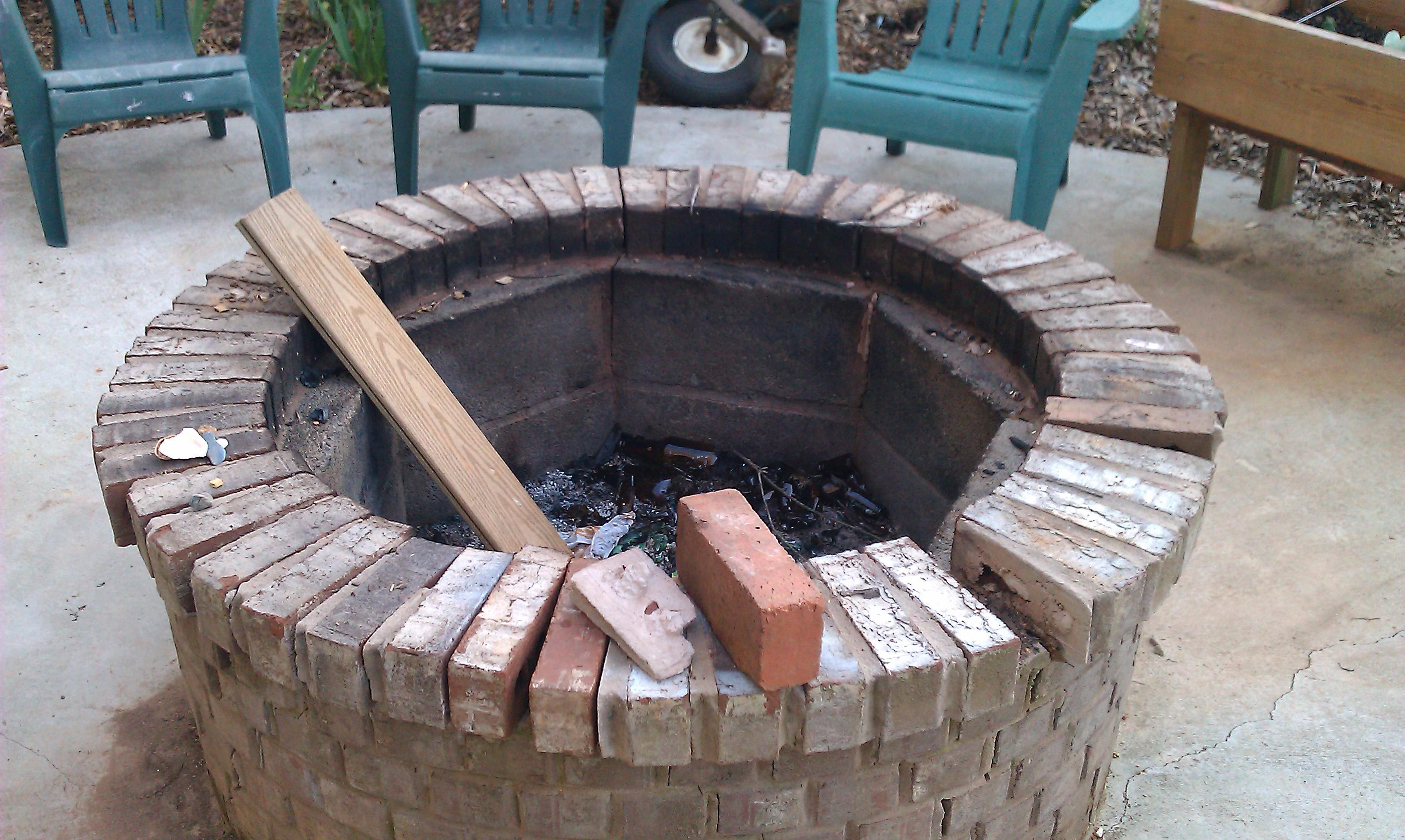 fire pit ideas. build fire pit table. After DIY Fire Pit. diy outdoor ...