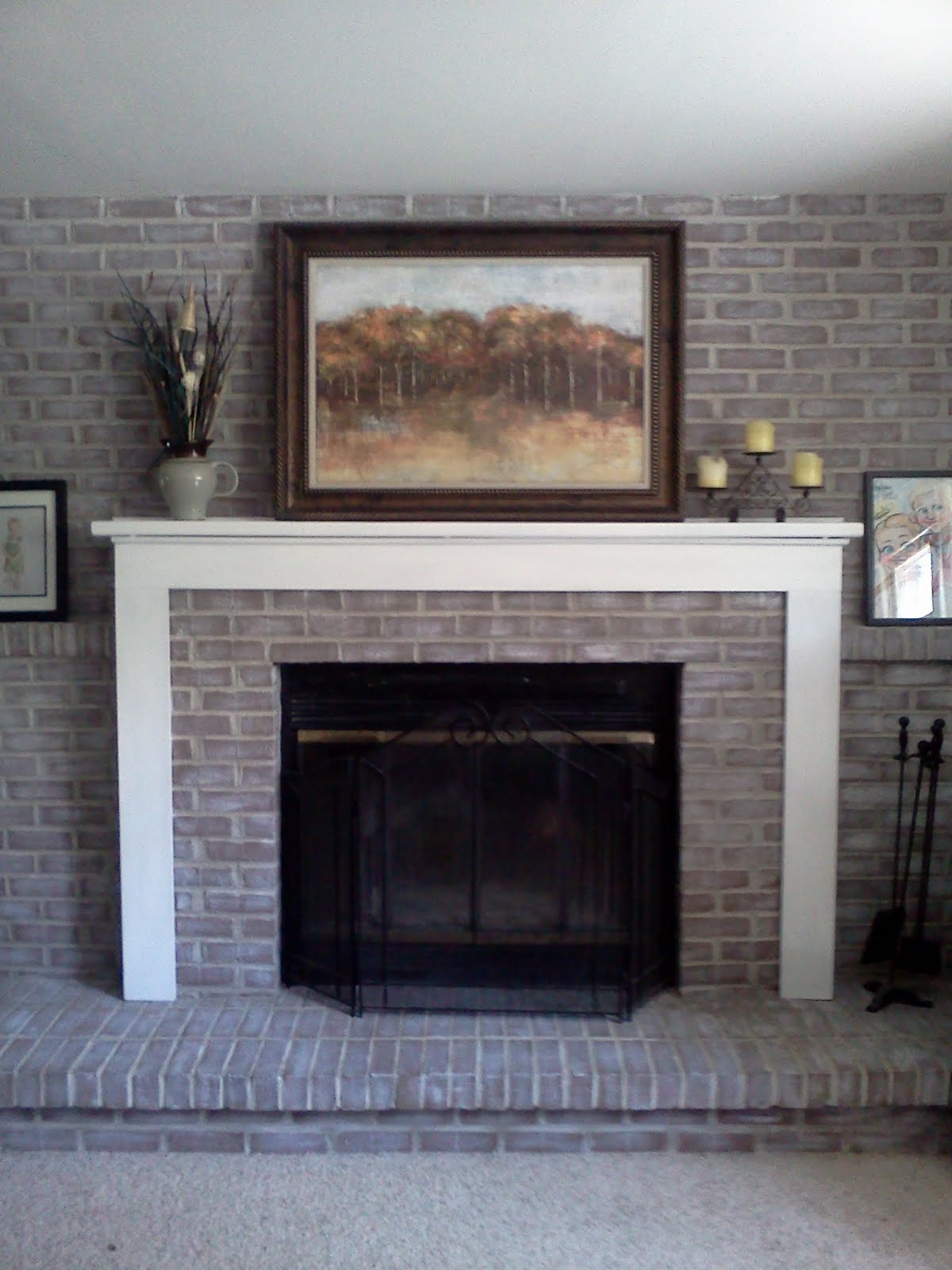 Diy brick fireplace makeover fireplace design ideas Brick fireplace wall decorating ideas