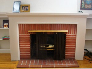 DIY Brick Fireplace Remodel