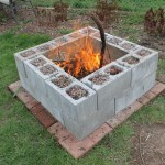 DIY Concrete Block Fire Pit