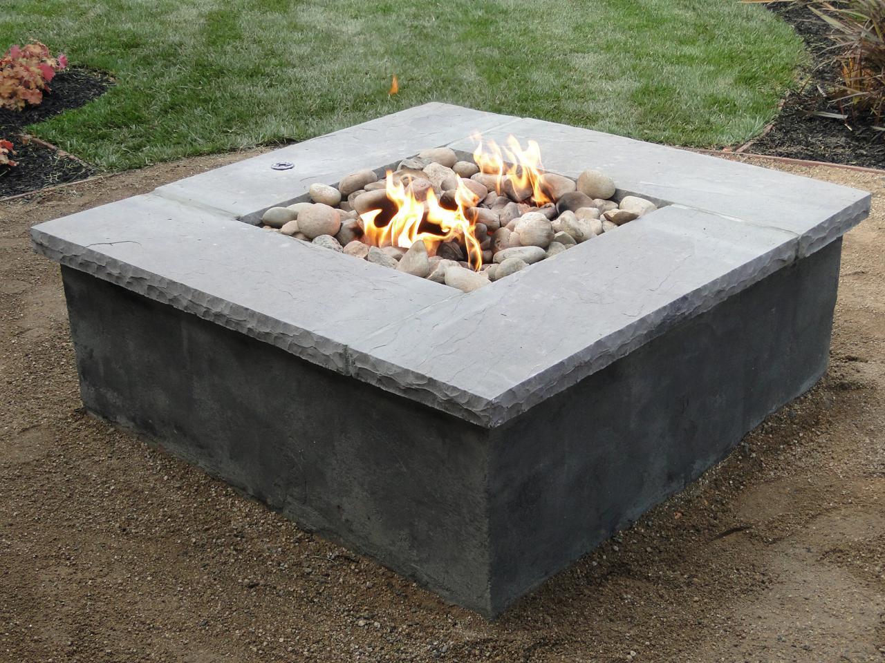 diy concrete propane fire pit fireplace design ideas. Black Bedroom Furniture Sets. Home Design Ideas