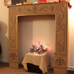 DIY Fake Fireplace Cardboard