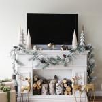 DIY Fake Fireplace for Christmas