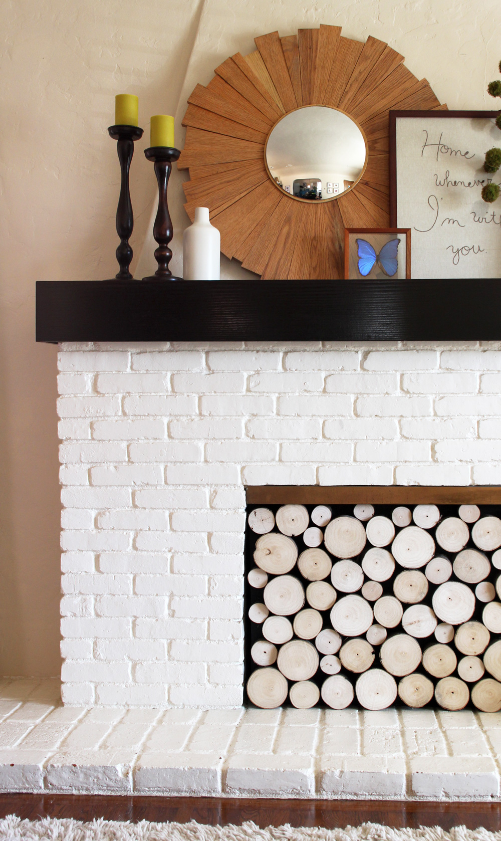 DIY Fake Fireplace Insert