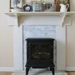 DIY Fake Fireplace Mantel