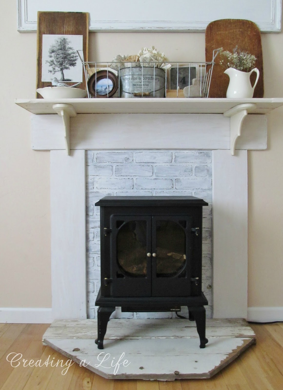 Diy Fake Fireplace Mantel Fireplace Design Ideas