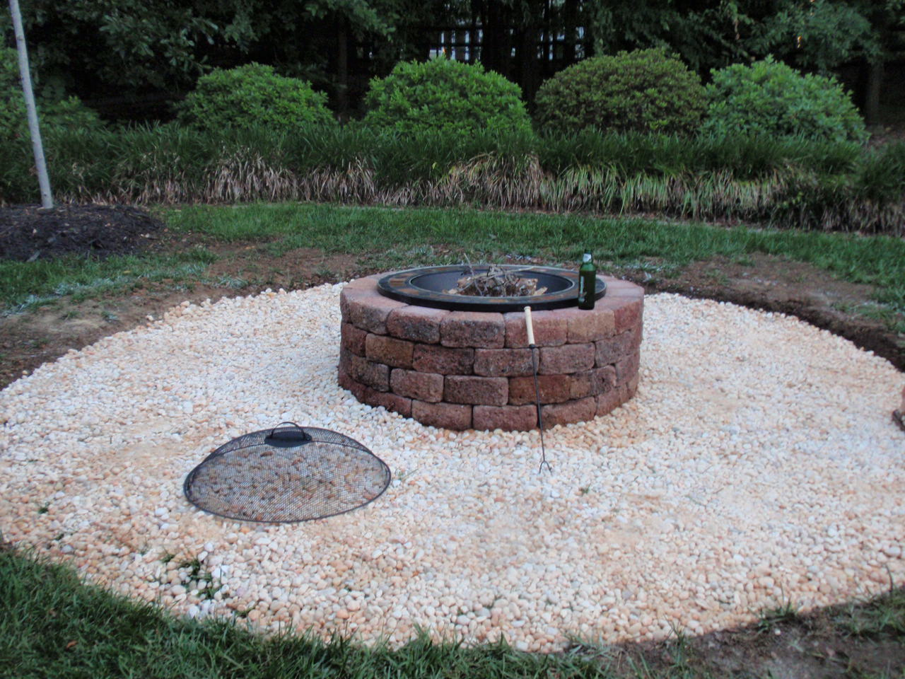 DIY Fire Pit Patio