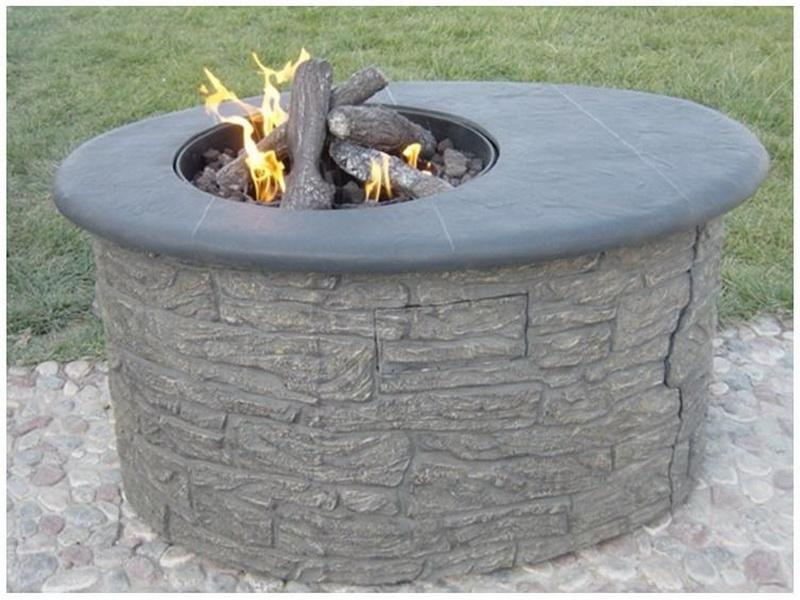 Diy fire pit propane fireplace design ideas for Global outdoors fire table