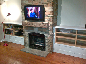 DIY Fireplace Mantel