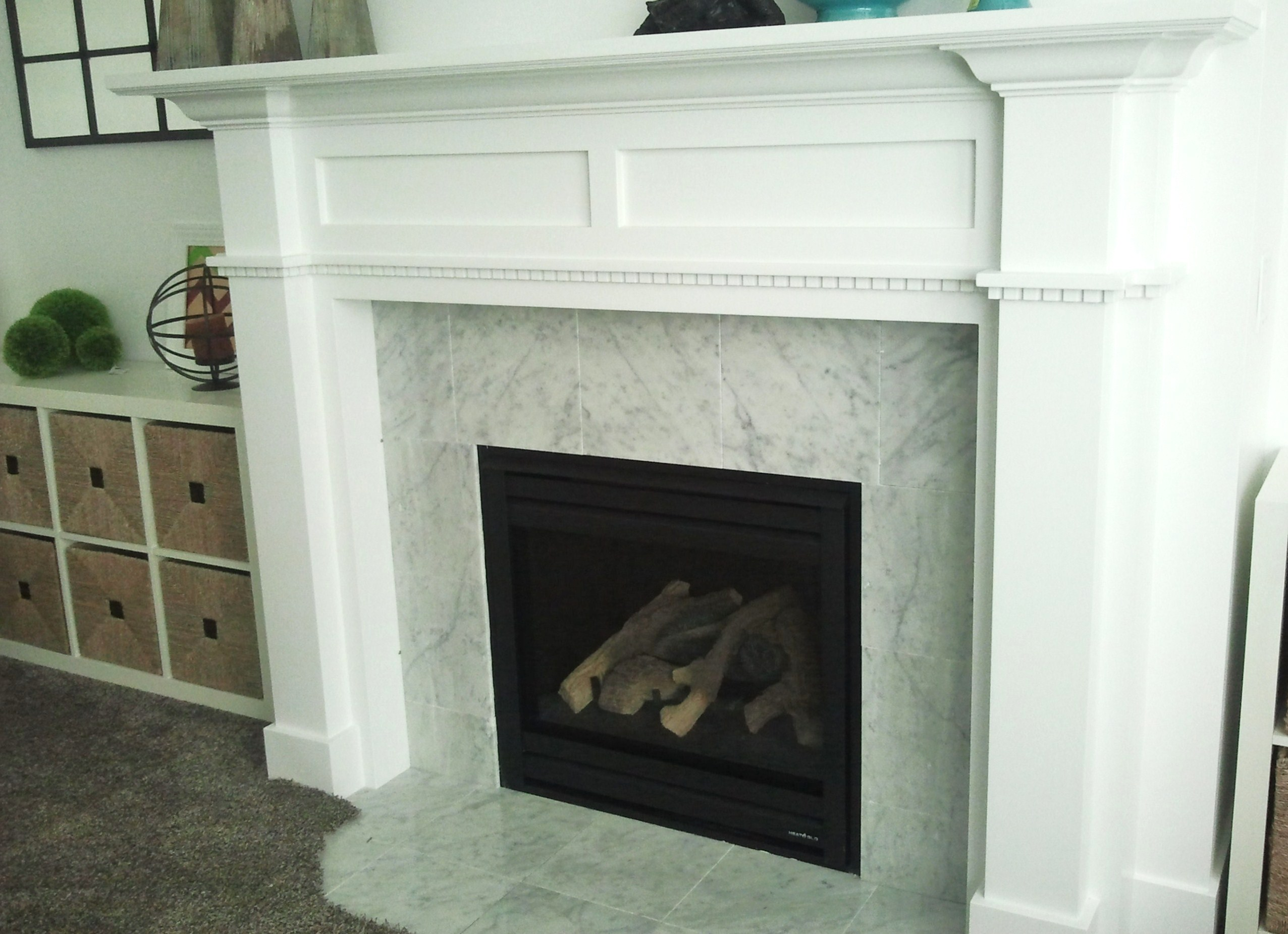 Ideas on Diy Fireplace Mantel: DIY Fireplace Mantel And Surround