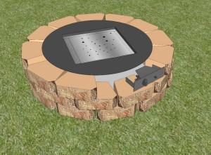 DIY Gas Fire Pit Kit