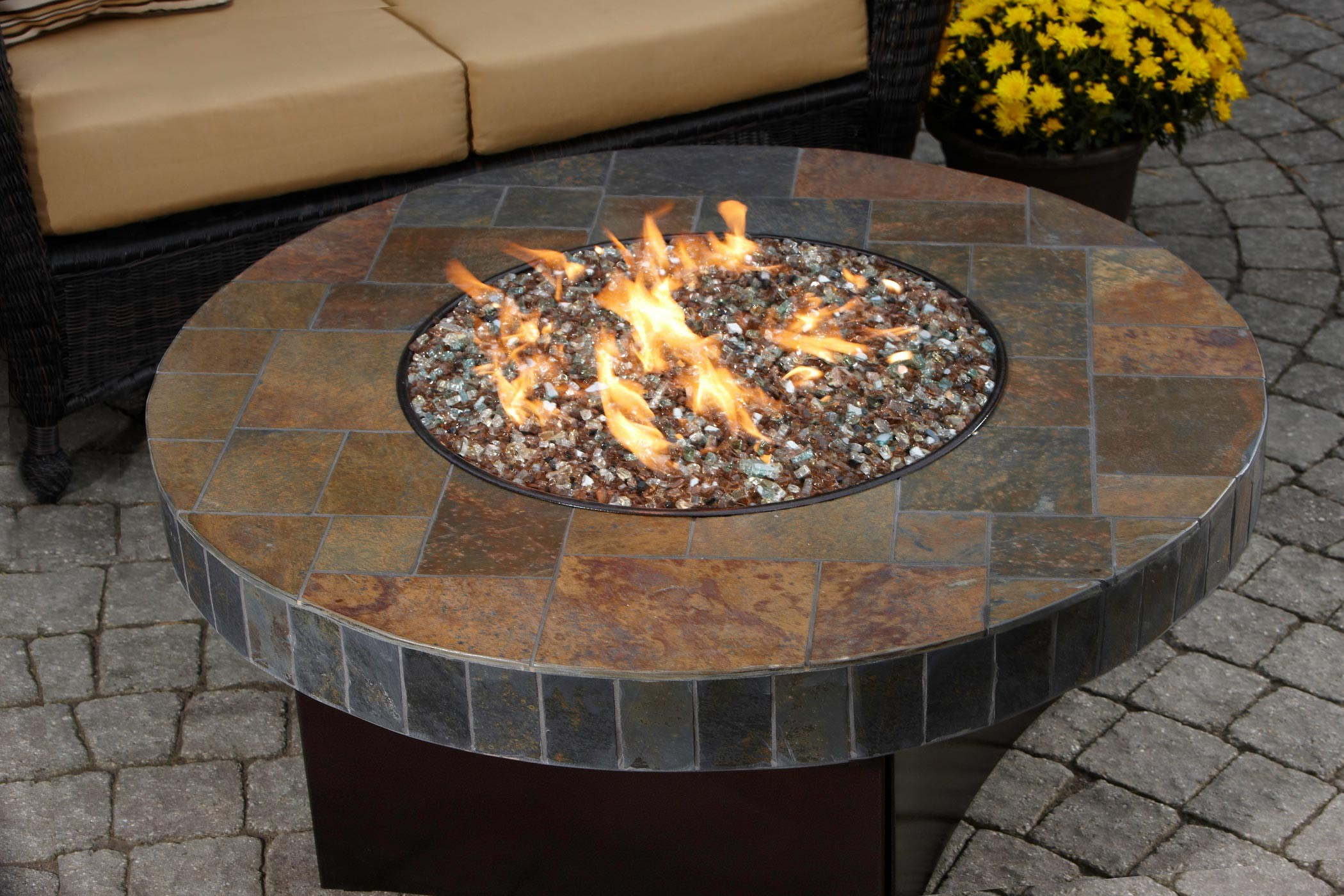 DIY Gas Fire Pit Table FIREPLACE DESIGN IDEAS - Cast aluminum gas fire pit table