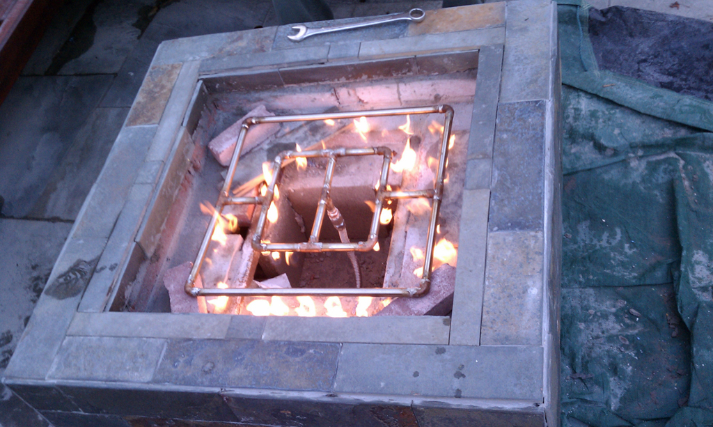 Diy Gas Fire Pit Fireplace Design Ideas
