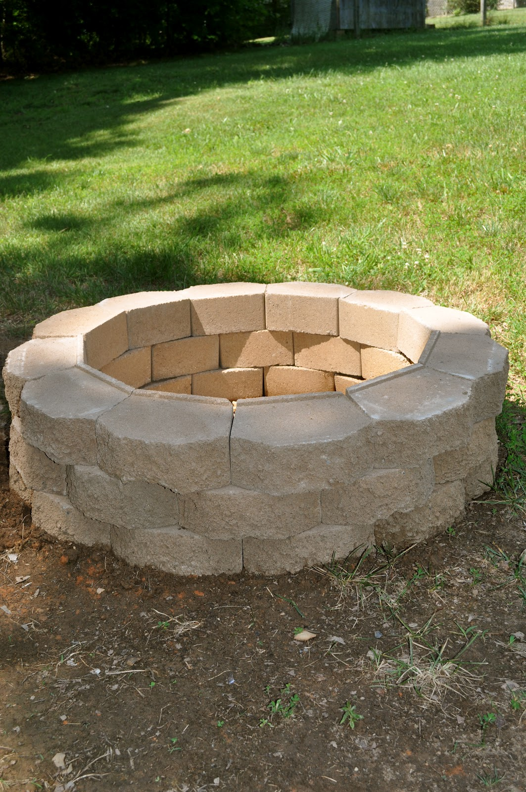 diy outdoor brick fire pit | fireplace design ideas
