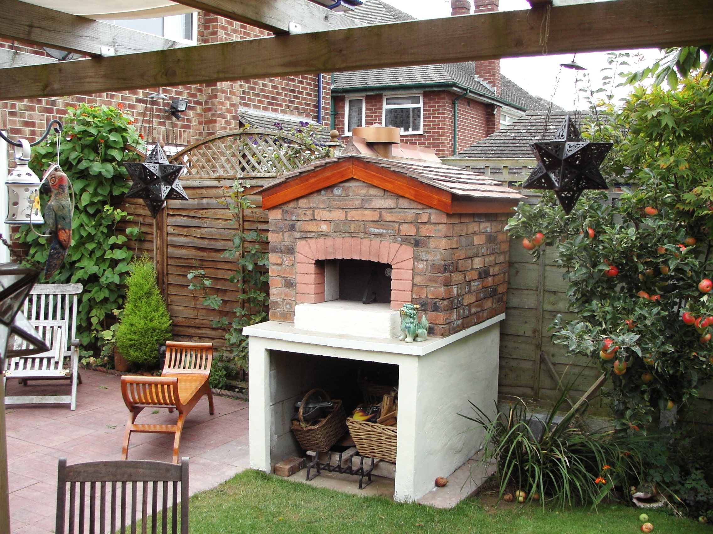 building a brick outdoor fireplace