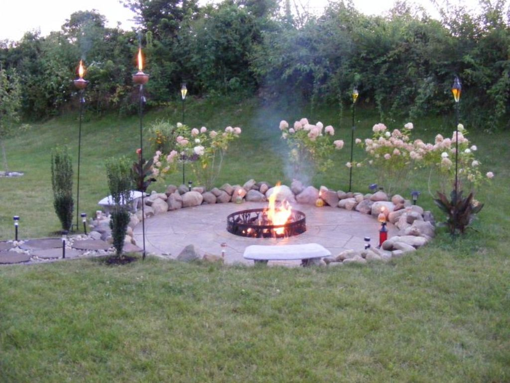 DIY Outdoor Fire Pit Designs FIREPLACE DESIGN IDEAS