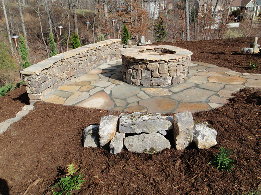 Diy outdoor fire pit kits fireplace design ideas for Backyard rock fire pit ideas