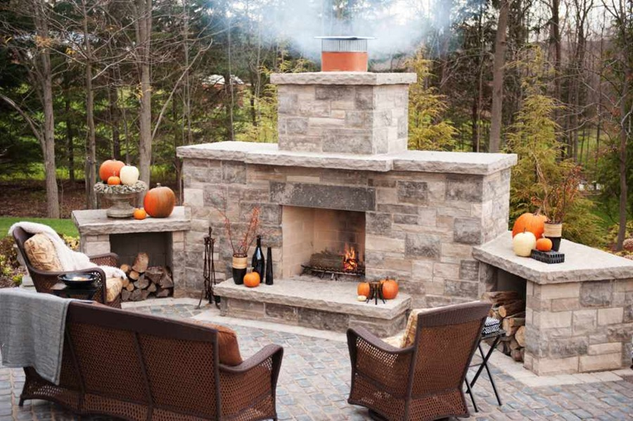 decorate your garden with a diy outdoor fireplace