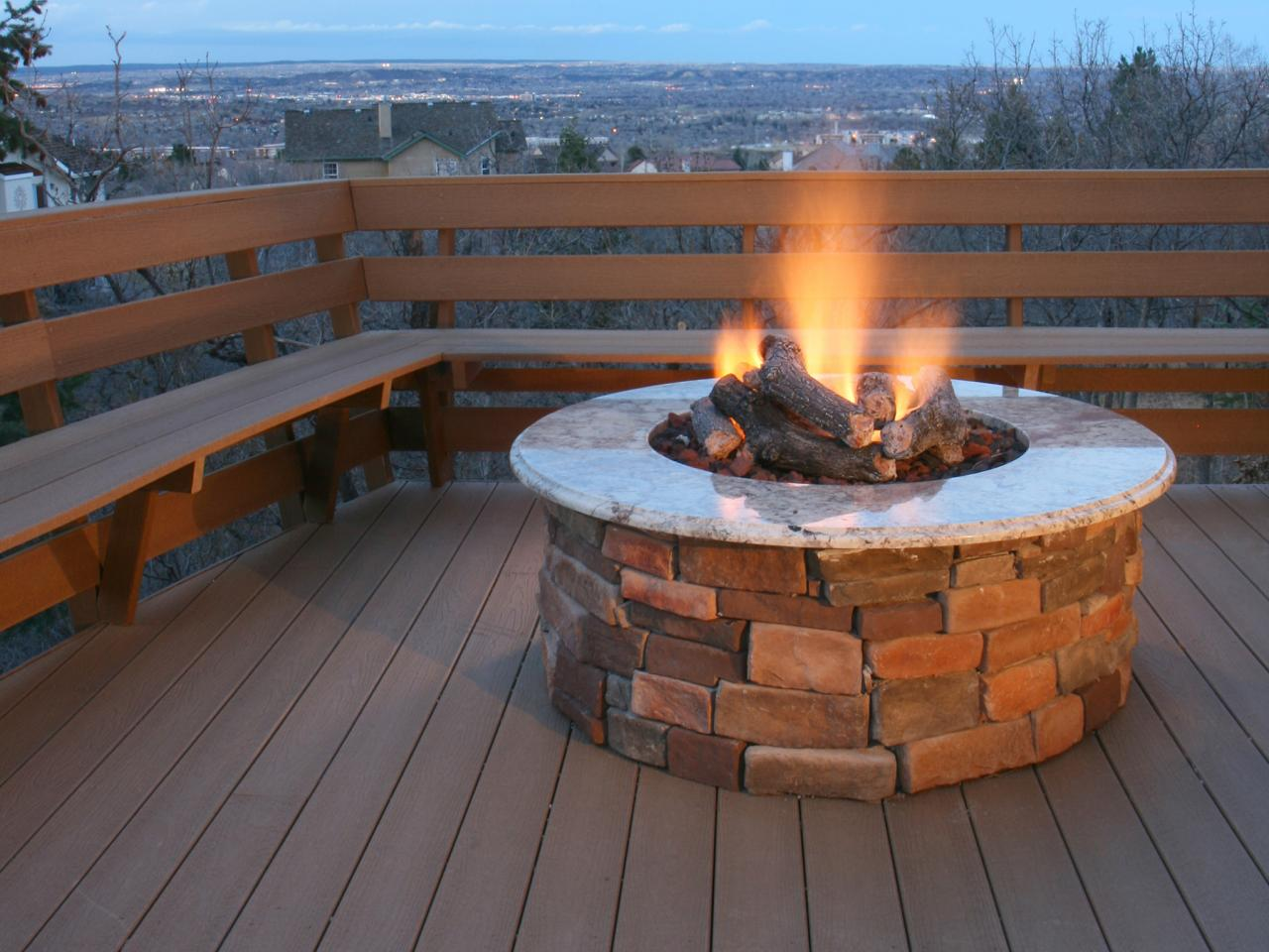 DIY Outdoor Propane Fire Pit