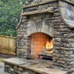 DIY Outdoor Stone Fireplace