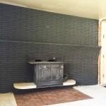 DIY Painting Brick Fireplace