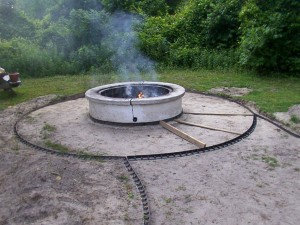 DIY Paver Fire Pit