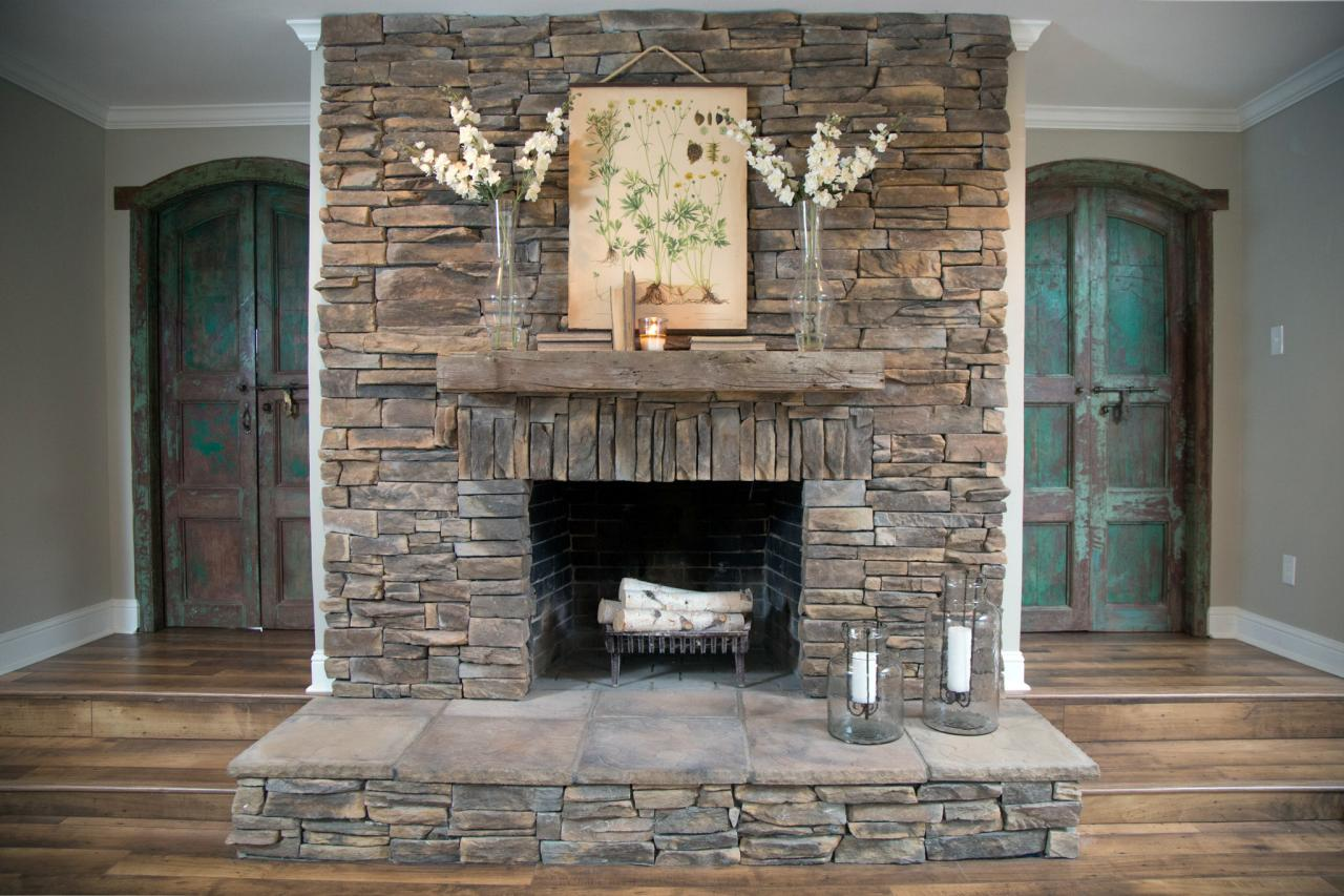 Stack Stone Tile Medium Size Of Stacked Stone Fireplace