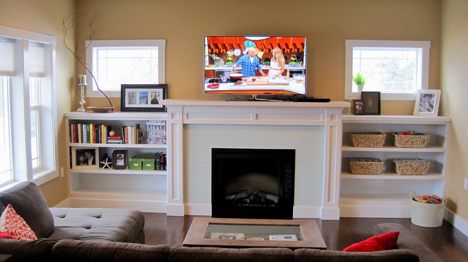 Electric Fireplace Built in