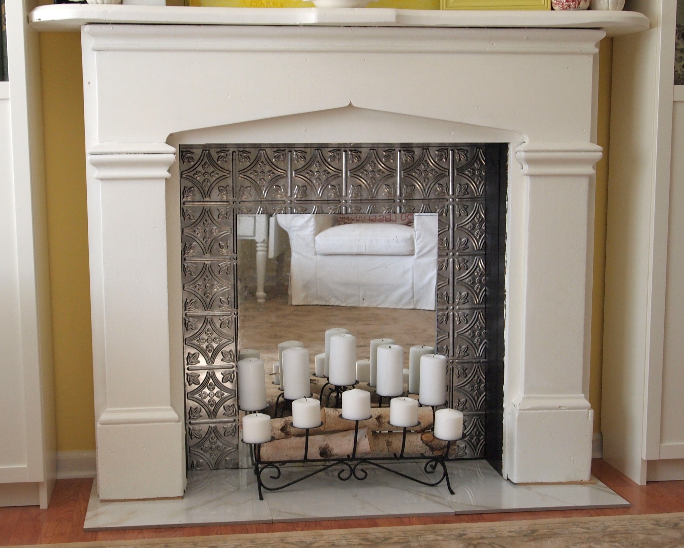 Fake Fireplace in Bedroom