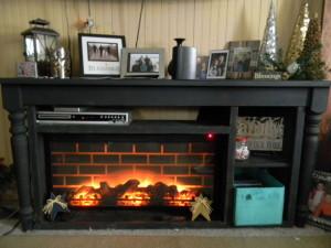 Fake Fireplace Insert