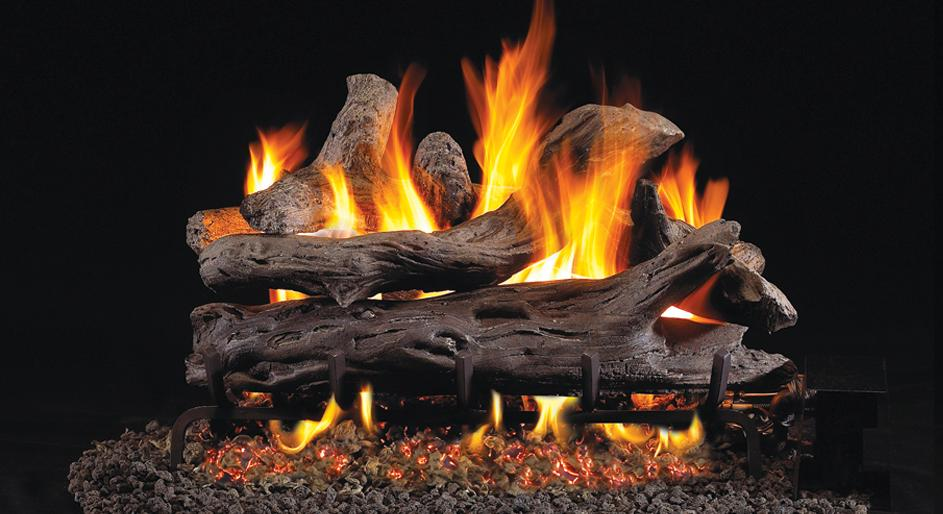start using fake fireplace logs and go green fireplace design ideas