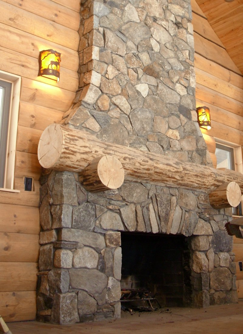 Fake Stone Fireplace Facade