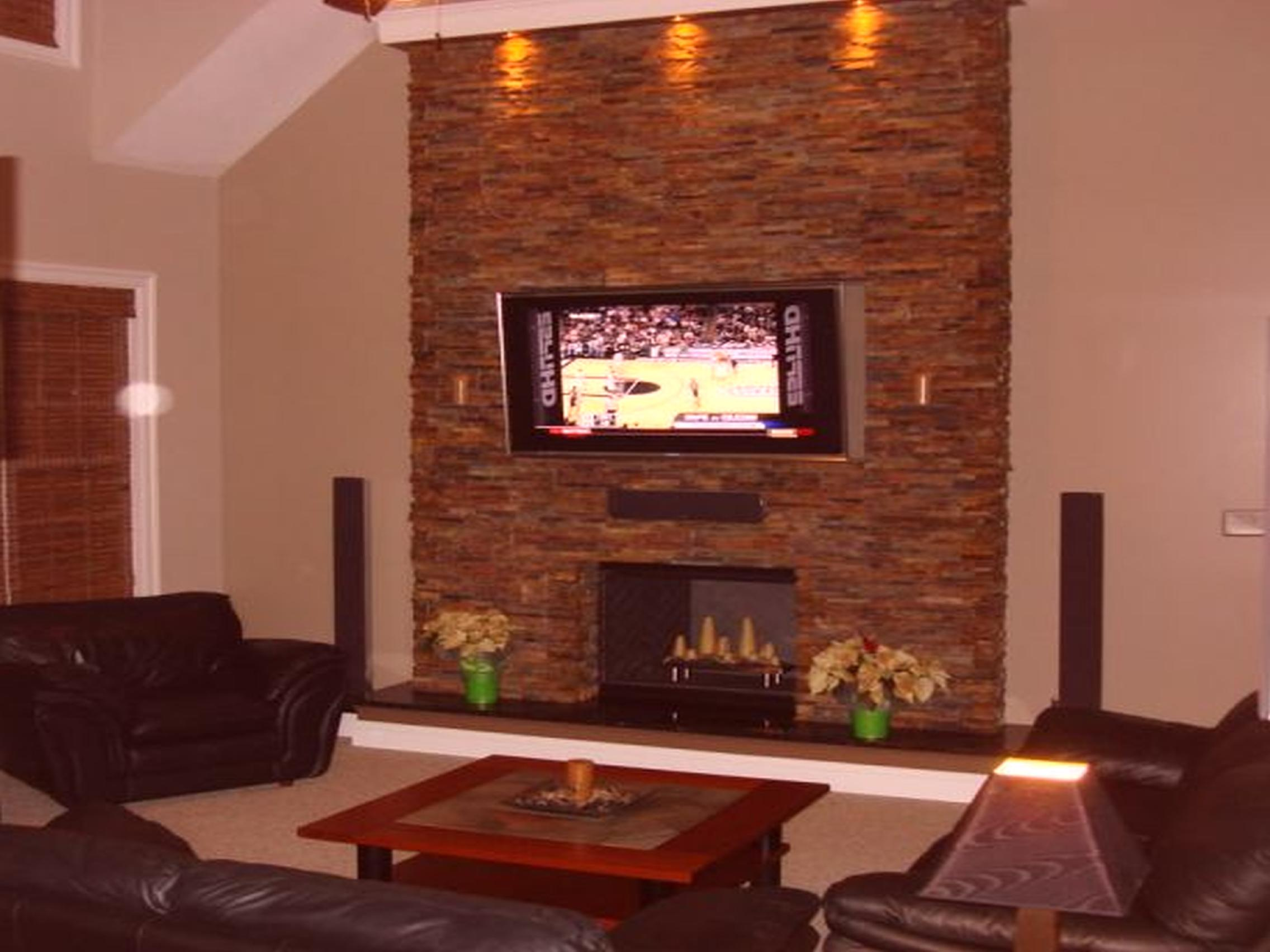 Fake Stone Fireplace Surround