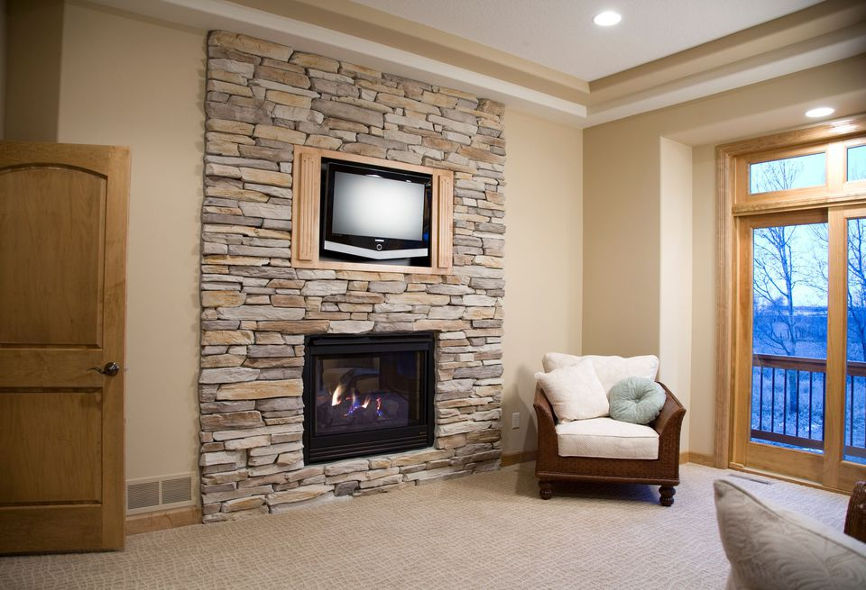 Superieur Fake Stone Fireplace