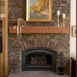 Faux Stone Corner Electric Fireplace