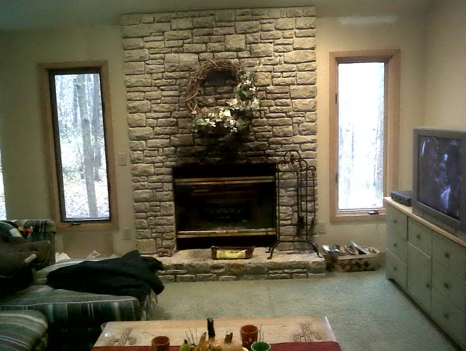 how to create fake fireplace