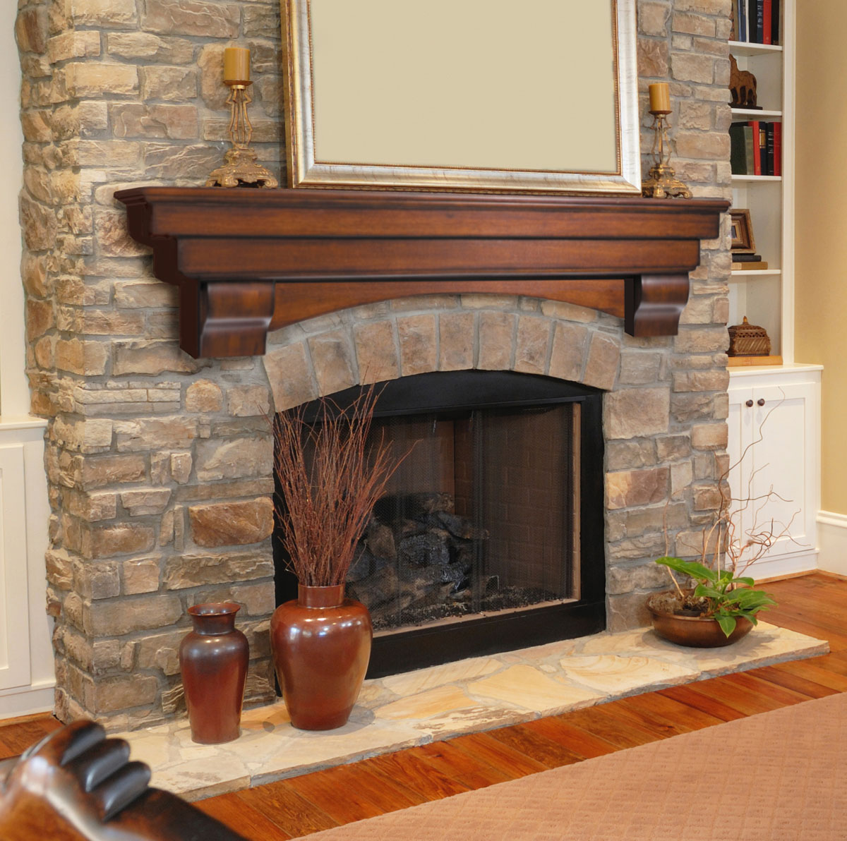 Faux Stone Fireplace Surround