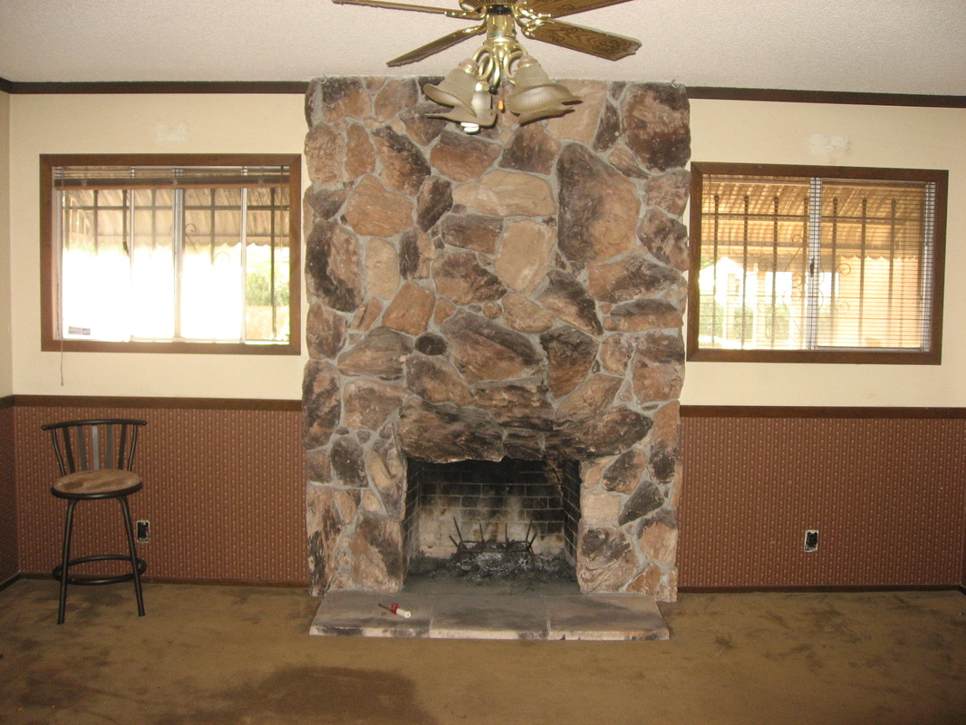 Faux Stone Panels for Fireplace