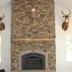 Faux Stone Veneer Fireplace