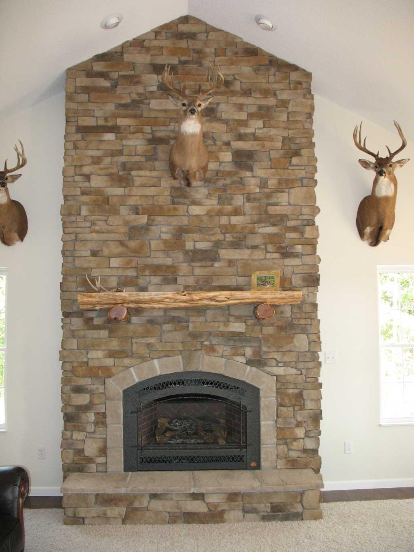 Faux Stone Veneer Fireplace Fireplace Design Ideas