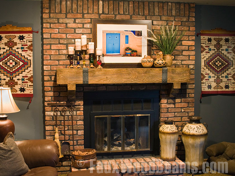 Faux Wood Fireplace Mantel