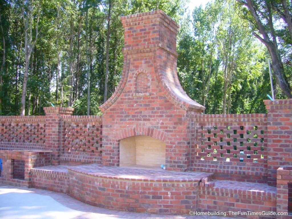 Fire Brick Outdoor Fireplace