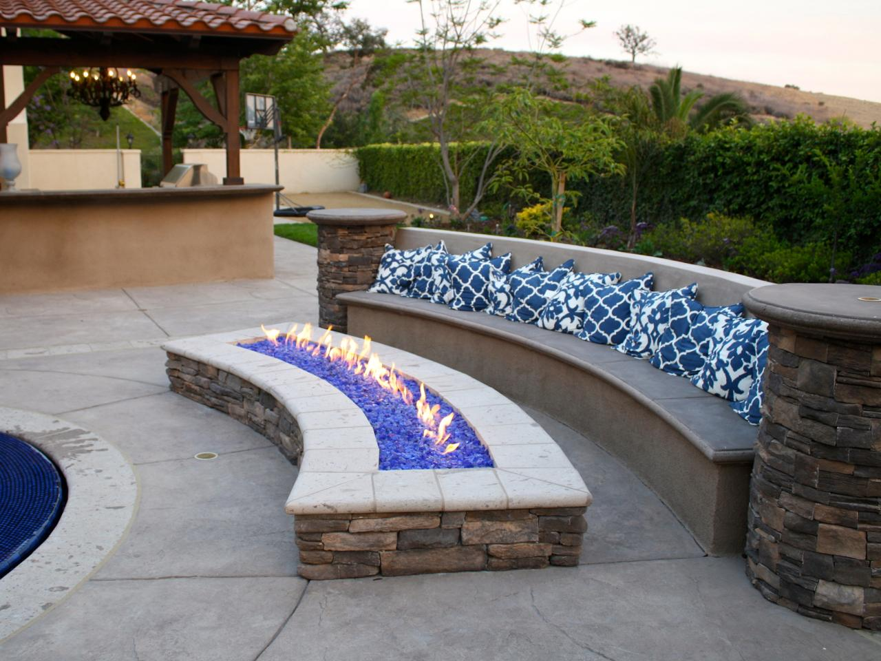 Fire Pit Bench Seating