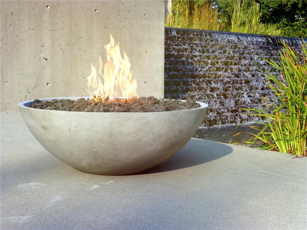 Fire Pit Bowls Concrete Fireplace Design Ideas