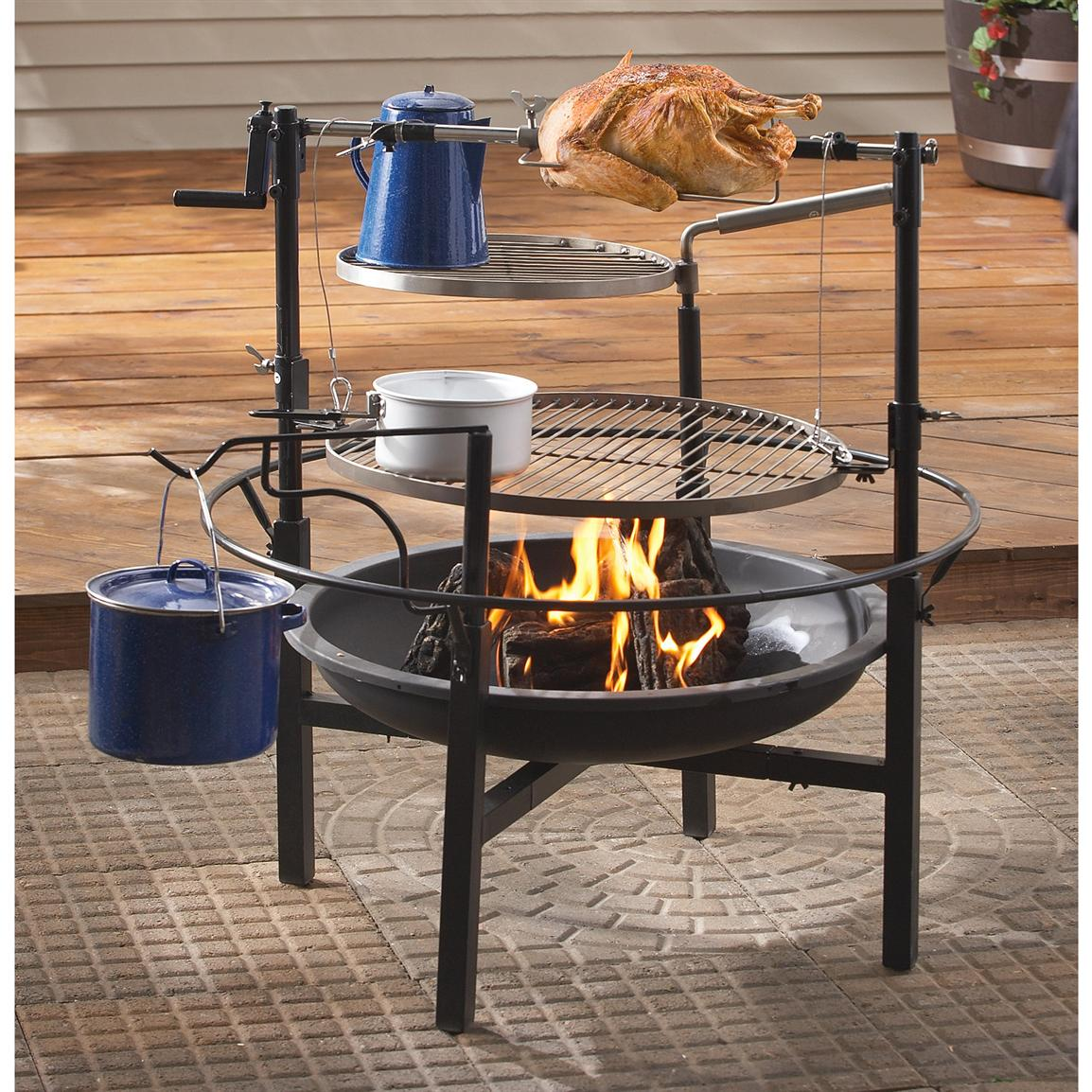 Cast Iron Fire Pit Images Ultimate Outdoor Gazebo Michael