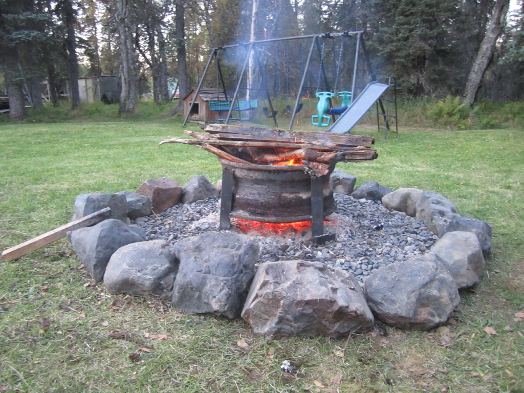 Log Benches For Fire Pit