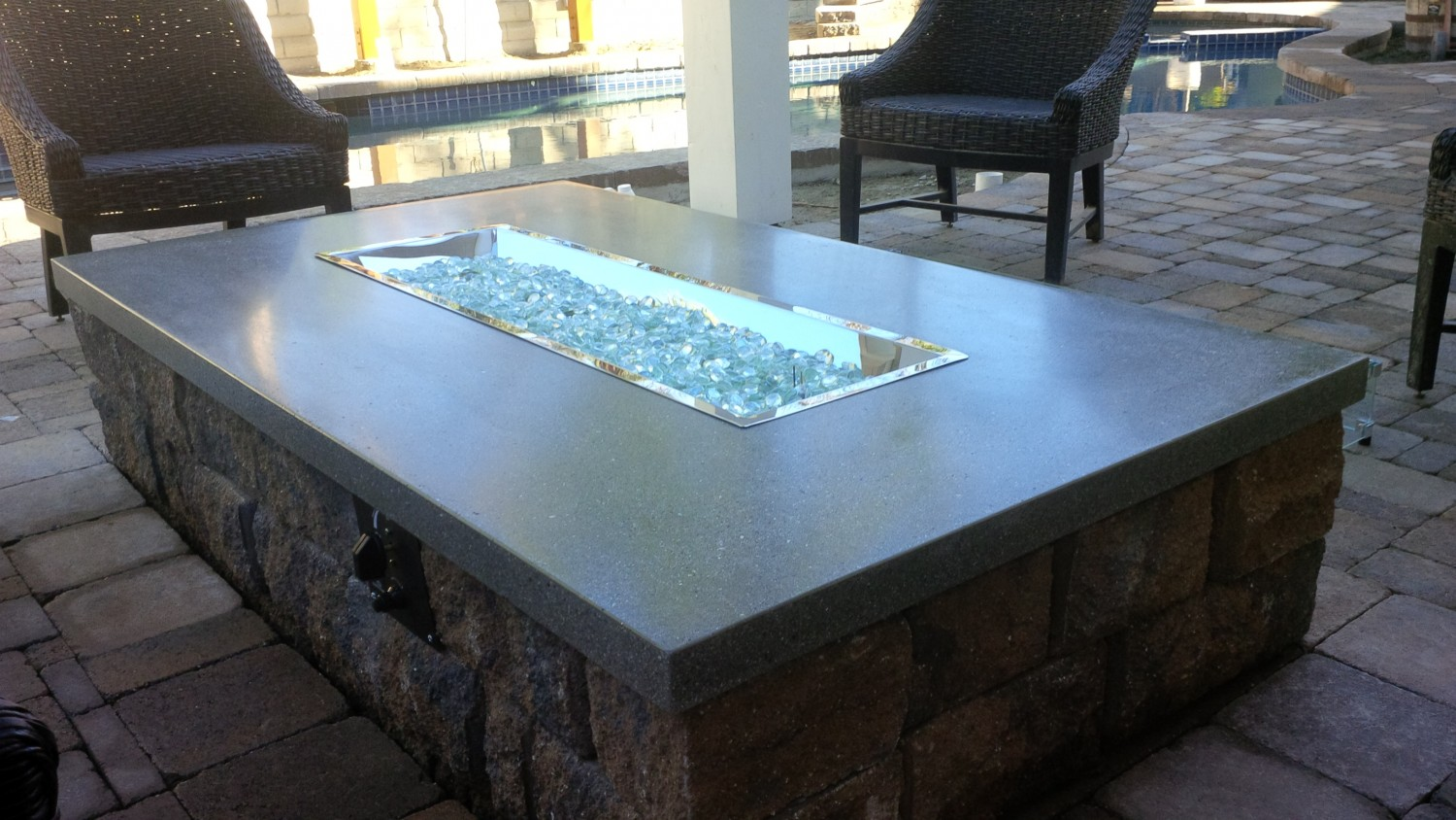 Fire Pit Glass Rock