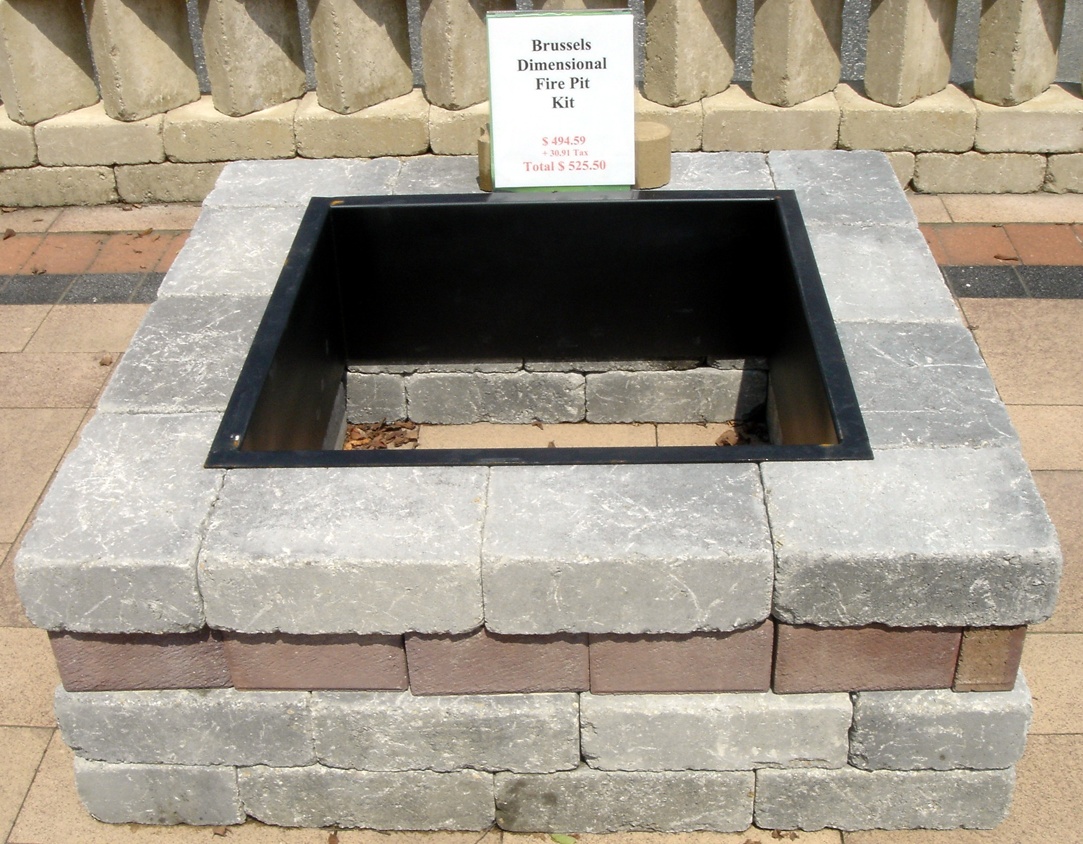 Fire pit liner insert fireplace design ideas for How to make a square fire pit