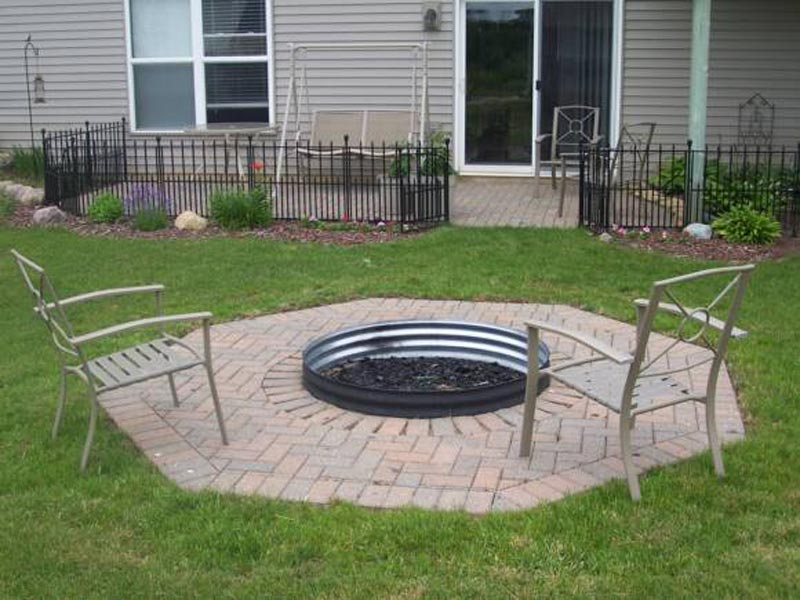 Fire Pit Metal Ring Insert
