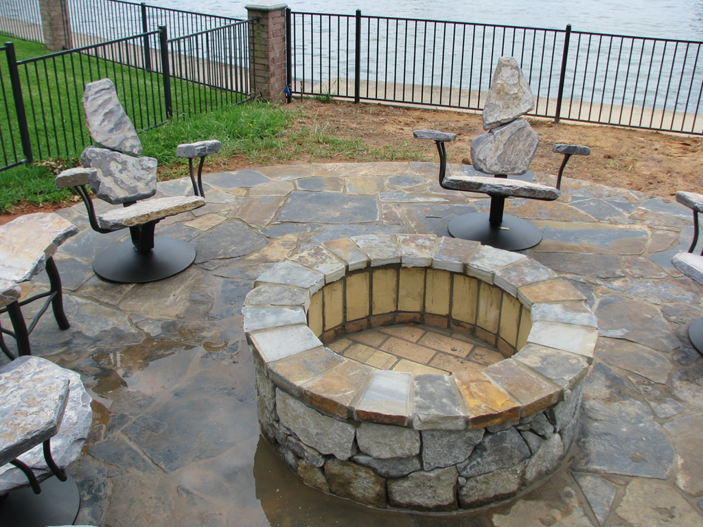 Fire Pit Sets With Seating Fireplace Design Ideas